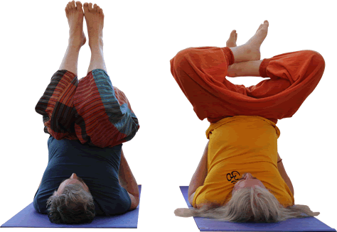 Mike and phill at yoga classes